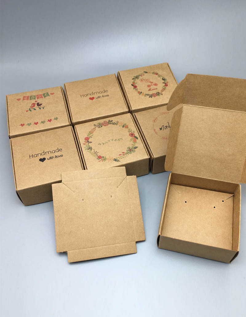 Hộp giấy kraft, hộp giấy cao cấp, in hộp giấy số lượng ít, hộp giấy da bò, paper box kraft