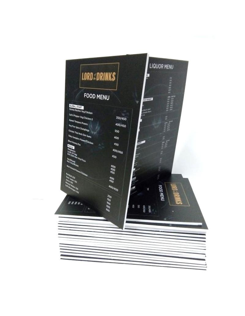 menu bồi format, menu dày, in menu, menu bồi formex, menu pp