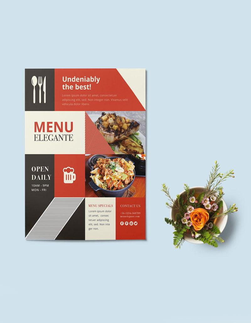 Menu Tờ rơi, menu, menu cầm tay, thực đơn cầm tay, menu mang về